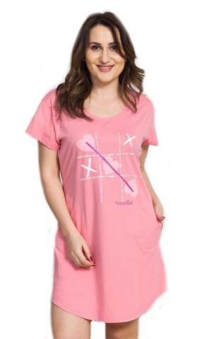 Dámské domácí šaty s krátkým rukávem Vienetta Secret Sylva