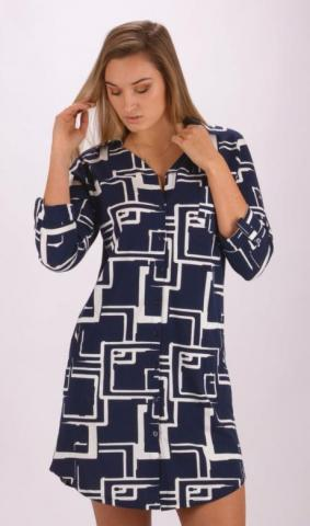 Dámské domácí šaty s tříčtvrtečním rukávem Vienetta Secret Kateřina