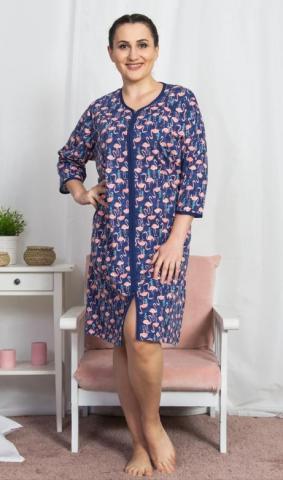 Dámské domácí šaty Vienetta Secret Plameňáci