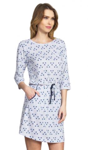 Dámské domácí šaty s tříčtvrtečním rukávem Vienetta Secret Linda