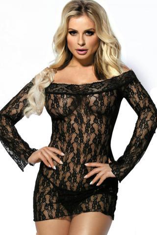 Dámské erotické šaty DKaren Ala černé