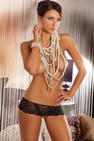 Dámské erotické tanga Livia Corsetti Lesedi black string