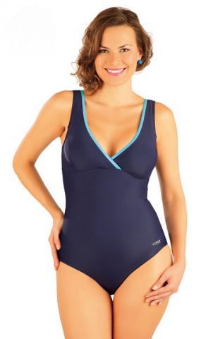 Dámské jednodílné plavky bez výztuže Litex 88347 modré