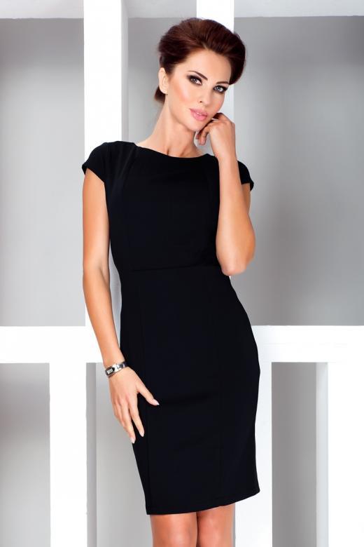 Dámské koktejlové šaty Numoco 37-3 černá