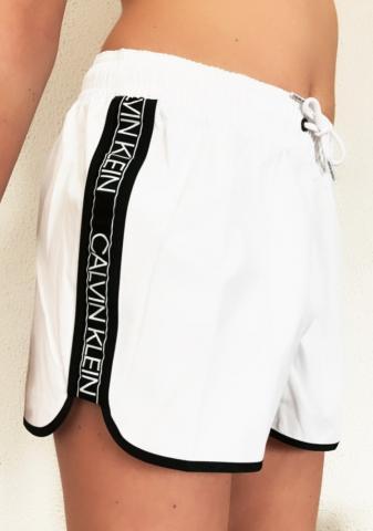 Dámské kraťase Calvin Klein KW01361 bílé