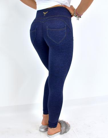 Dámské legíny push-up Disstyle YASTRABY jeans
