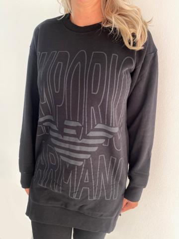Dámské mikinové šaty Emporio Armani 164395 černá