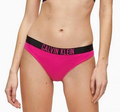 Dámské plavkové kalhotky Calvin Klein KW00942 růžová