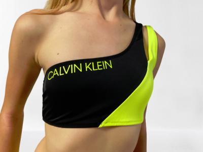 Dámské plavky Calvin Klein KW0KW00885 ONE SHOULDER BANDEAU