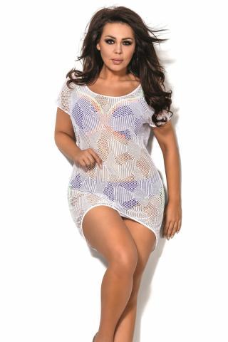 Dámské plážové šaty AVA SP1 plus bílé