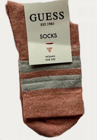Dámské ponožky GUESS O0BY03 růžová