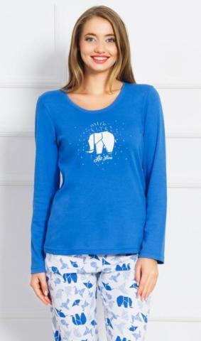 Dámské pyžamo dlouhé Vienetta Secret Elephant