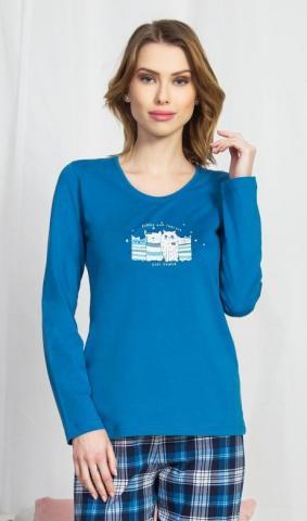 Dámské pyžamo dlouhé Vienetta Secret Kateřina