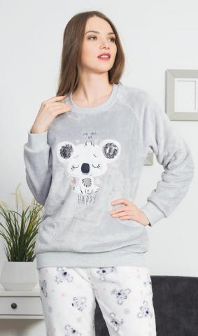 Dámské pyžamo dlouhé Vienetta Secret Koala Happy