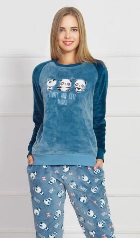 Dámské pyžamo dlouhé Vienetta Secret Malé pandy