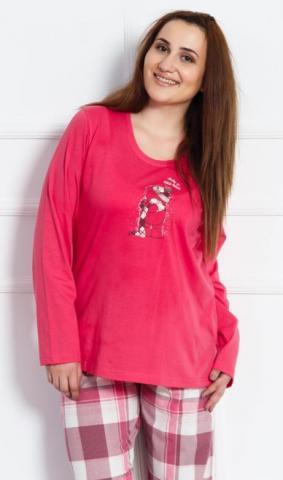Dámské nadměrné pyžamo Vienetta Secret Medvěd s čepicí