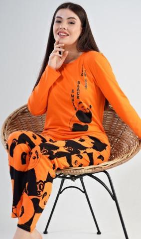 Dámské pyžamo dlouhé Vienetta Secret Velká panda