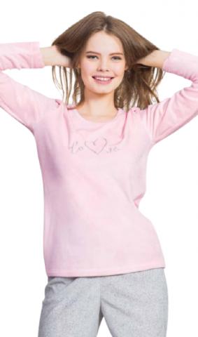 Dámské pyžamo dlouhé velurové Vienetta Secret Love