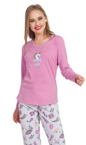 Dámské pyžamo dlouhé Vienetta Secret Dreams