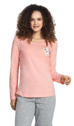 Dámské pyžamo dlouhé Vienetta Secret Ema