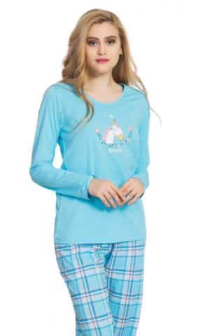 Dámské pyžamo dlouhé Vienetta Secret Jednorožec