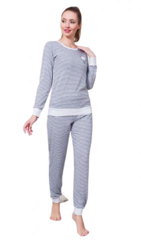 Dámské pyžamo dlouhé Vienetta Secret Lucie