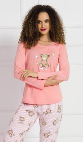 Dámské pyžamo dlouhé Vienetta Secret Méďa Sweety