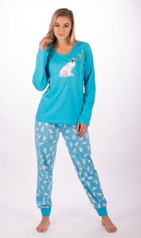Dámské pyžamo dlouhé Vienetta Secret Medvěd