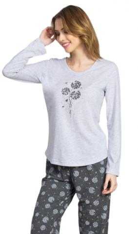 Dámské pyžamo dlouhé Vienetta Secret Pampelišky