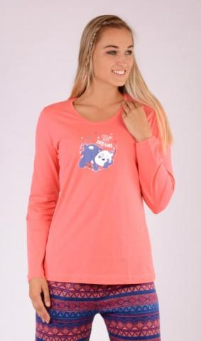 Dámské pyžamo dlouhé Vienetta Secret Panda