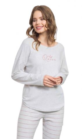 Dámské pyžamo dlouhé Vienetta Secret Queen