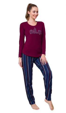 Dámské pyžamo dlouhé Vienetta Secret Relax