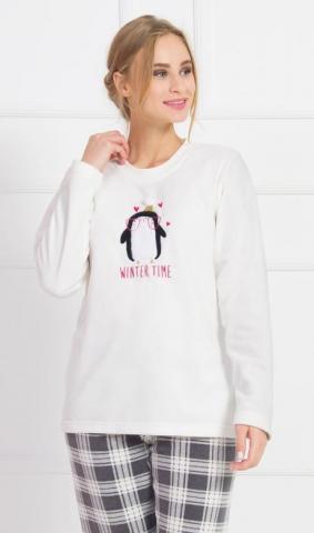 Dámské pyžamo dlouhé Vienetta Secret Winter time