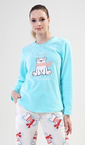 Dámské pyžamo dlouhé Vienetta Secret Winter