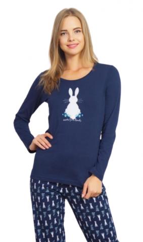 Dámské pyžamo dlouhé Zajíček
