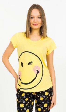 Dámské pyžamo kapri Vienetta Secret Big smile