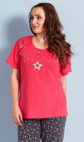 Dámské nadměrné pyžamo kapri Vienetta Secret Hvězda