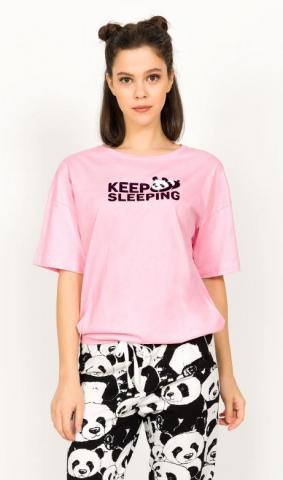 Dámské pyžamo kapri Vienetta Secret Keep sleeping