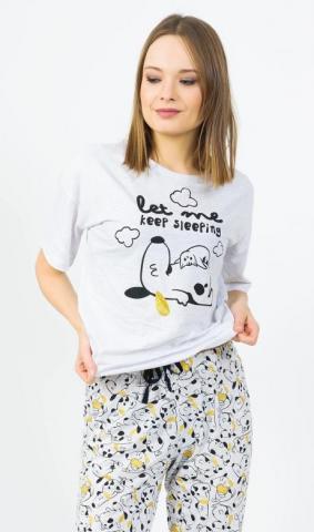 Dámské pyžamo kapri Vienetta Secret Štěně a kotě
