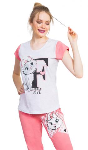 Dámské pyžamo kapri Vienetta Secret Fashion