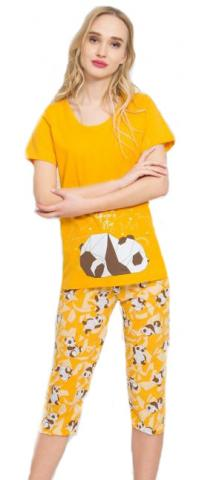 Dámské pyžamo kapri Vienetta Secret Panda Star