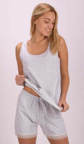 Dámské pyžamo šortky na ramínka Vienetta Secret Helena