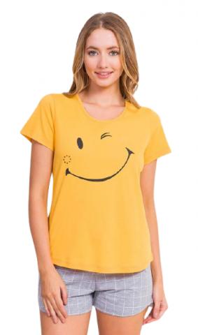 Dámské pyžamo šortky Vienetta Secret Big smile