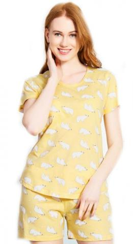 Dámské pyžamo šortky Vienetta Secret Lední medvědi