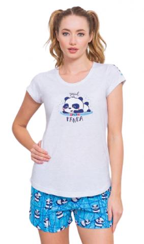 Dámské pyžamo šortky Vienetta Secret Malá panda