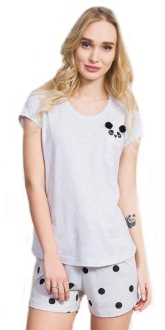 Dámské pyžamo šortky Vienetta Secret Panda