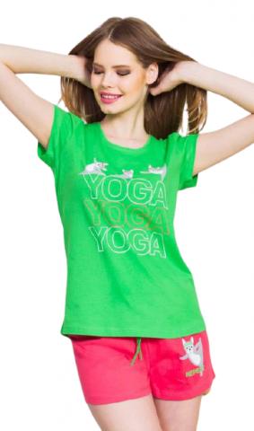 Dámské pyžamo šortky Vienetta Secret Yoga