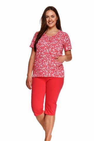 Dámské pyžamo Taro 924 Wera červené