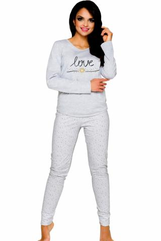 Dámské pyžamo TARO Malina 1198 šedé