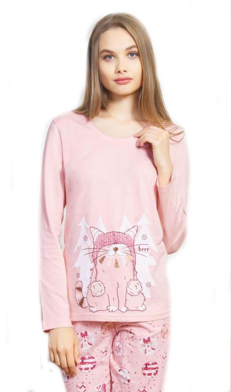 Dámské pyžamo Vienetta Secret Kotě s čepicí